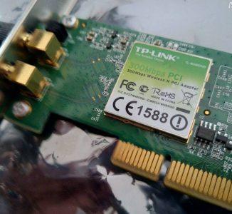 TP-Link PCI-WLAN-Karte 300Mbps mit 2 Antennen