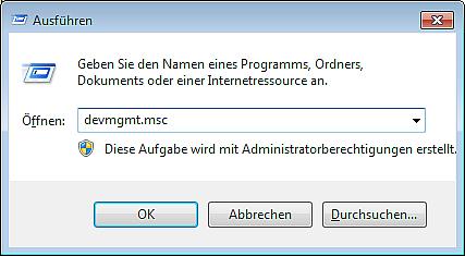 Ausführen-Befehle-Fenster