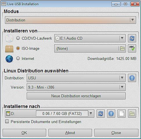 Bootstick-Live-USB-Installation
