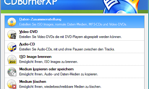 CDBurnerXP ISO Audio & Video