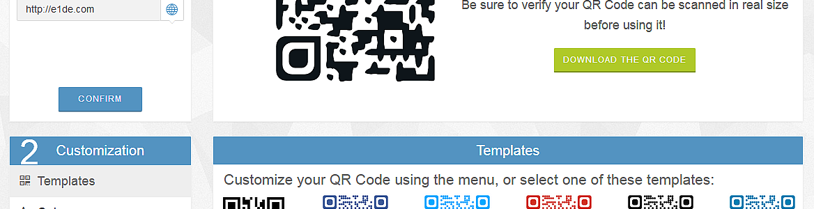 QR-Code Generator Customized